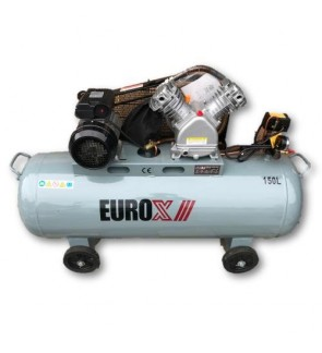 EuroPower EAX-7130 3HP x 150Liter Belt Driven Air Compressor