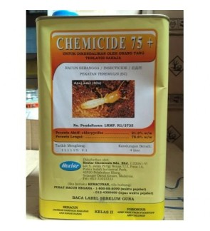 4 Liter Chemicide 75+ Insecticide 21.2% Class 2 Racun Anai/Semut (Pest Control Chemical)