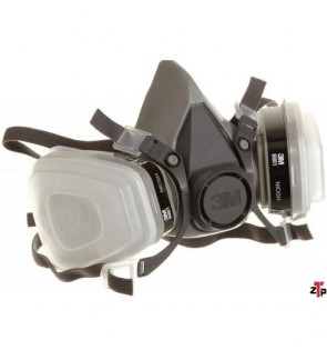3M 6200 Low-Maintenance Half-Mask Organic Vapor, P95 Respirator Assembly, Medium