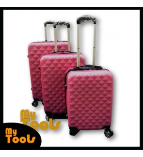 ABS Hard Case Diamond Luggage - 3 in 1