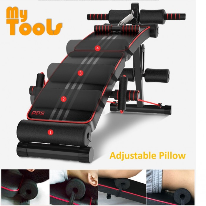 Buy Sit Up Bench Abs Training Ab Rollers Pull Spring: DDS Gym Foldable Advanced Multi-Function Fitness Gym Sit