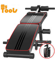DDS Gym Foldable Advanced Multi-Function Fitness Gym Sit Up Bench with Exercise Rope and Spring Pull Exerciser