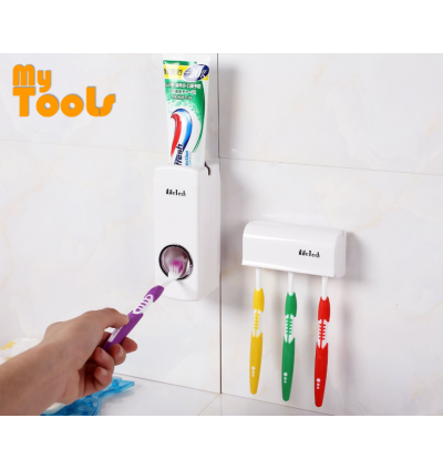 Automatic Touch Me Toothpaste Dispenser & Toothbrush Holder Bathroom Toilet