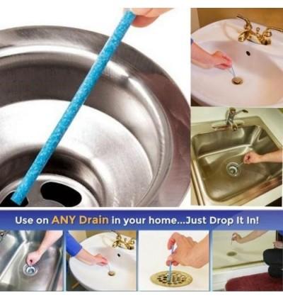 12 pcs Sani Sticks Enzyme Stick Pipe Deodorizer, Prevent Clogs Drain Cleaner