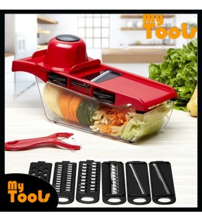 10 In 1 Mandoline Slicer Vegetable Grater, Cutter with Stainless Steel Blades