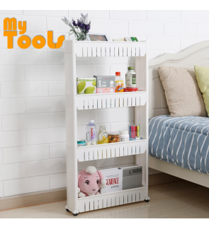 Mytools 4 Tiers Space Saver Slim Slide Storage Kitchen Rack