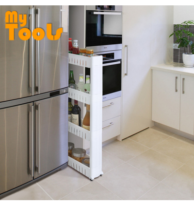 [Ready Stock] Mytools 3 / 4  Tiers Space Saver Slim Slide Storage Kitchen Rack