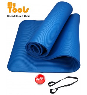 Mytools High Grade 10mm Yoga Mat (183x61x1cm) Extra Thick Non-Slip Free Carry Strap