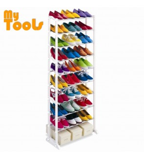 Mytools Amazing Black Shoe Rack 10 Layered