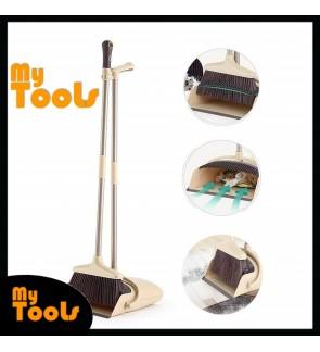 [Ready Stock] Windproof Broom And Dustpan Set Combination Soft Bristles Broom