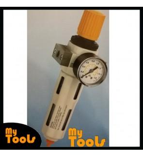 1/2-MIDI 16BAR AIR REGULATOR FILTER WATER TRAP 2 N 1 GAUGE COMPRESSOR