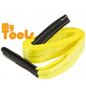 Yellow 3Ton 75mm x 3m Flat Webbing Sling Eye and Eye Lifting Strap Belt ( Safety Factor 6:1)