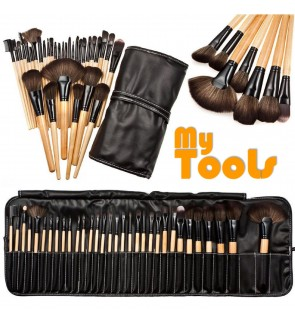 32pcs Makeup Brushes Kit Cosmetic Make Up Tool Set with Pouch Bag