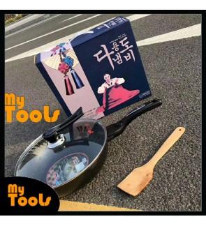 [READY STOCK] Korean Non Stick Frying Wok Pan Pot Maifan Stone Korea Cooking - 32cm