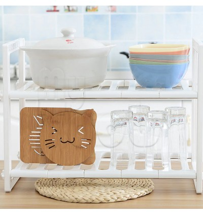 [READY STOCK] Expandable Kitchen Organizer Under Sink Rack Shoe Book Rack