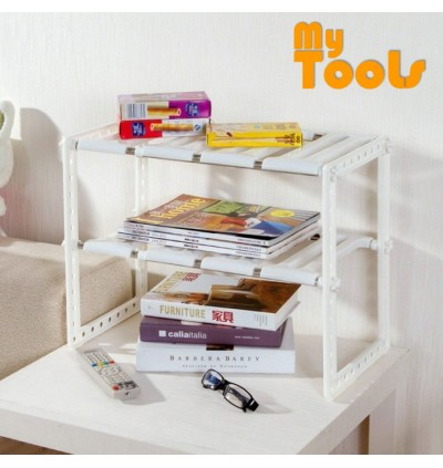 Mytools Expandable Kitchen Organizer Under Sink Rack Shoe Book Rack