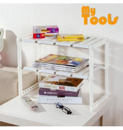 Mytools Expandable Kitchen Organizer Under Sink Rack Shoe Book Rack