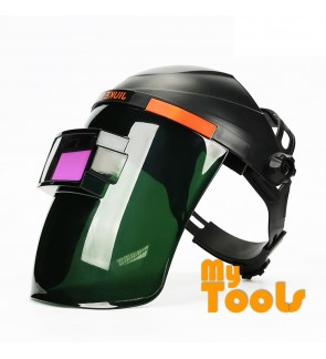 Mytools Auto-Darkening Solar Welding Helmet Mask with 4 Independent Shade Filter Sensors, Welding Mask