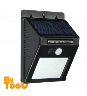 20 LED Solar Powered Lights Outdoor 3 Intelligent Modes Waterproof Motion Sensor Wireless Security Outside Wall Lamp