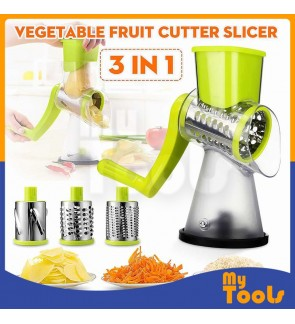 [READY STOCK] Manual Rotary Round Mandoline Vegetable Slicer Cutter Grater