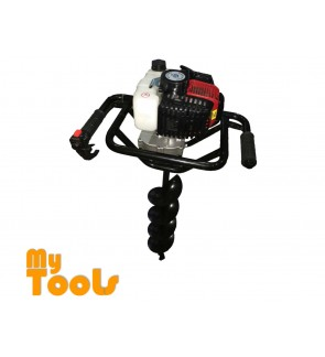 Mytools Steel Power Soil Earth Auger Machine 1.4kw 51cc 10kg c/w 100,150,200MM AUGER BIT