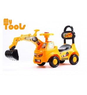 Mytools Children Kids Ride On Excavator Digger Pretend Play Construction Truck Toy