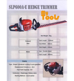 Mytools SLP-600 Gasoline Petrol Hedge Trimmer 26cc 600mm