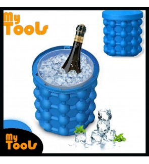 [READY STOCK] Mytools Ice Cube Maker Genie Silicone Ice Bucket Space Saving