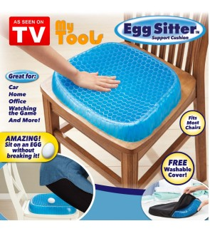 Egg Sitter Blue 3D Cooling Grid Mesh Gel Seat Cushion