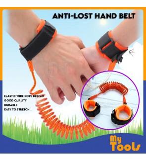 Anti-lost Hand Belt Toddler Kids Baby Safety Walking Harness Strap Wrist Band (Blue/ Orange)