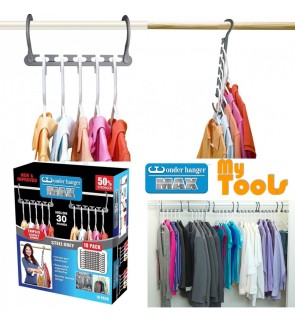 10 pcs Wonder Hanger Max 30 Pounds Stronger Triples Closet Space Clothing Wardrobe