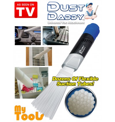 Dust Daddy Universal Vacuum Cleaner Attachment Brush As Seen On TV