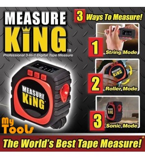 Measure King 3-in-1 Digital Tape Sonic String Mode Roller Universal Measuring Tool