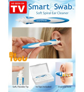 Smart Swab Easy Earwax Removal Soft Spiral Ear Cleaner