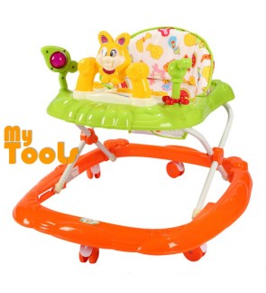 Mytools 7 Rolling Wheels Baby Walker Free Stopper And English Song