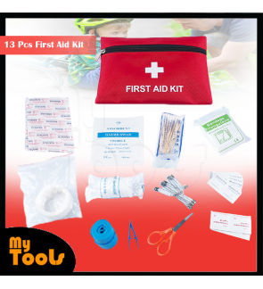 13 Pcs First Aid Kit Medical Trauma Kit For Travel Car Emergency Sports Survival Hiking Camping Home