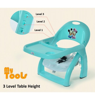 Mytools Disney Baby Booster Seat / Portable Baby Dining Chair and Table