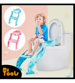 Mytools Double Step Adjustable Toilet Seat Ladder Stair Baby Children Toilet Bowl Potty Training Kit With Cushion