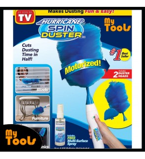 Hurricane Spin Duster Electric Feather Duster Motorized Spinning (ASOTV)