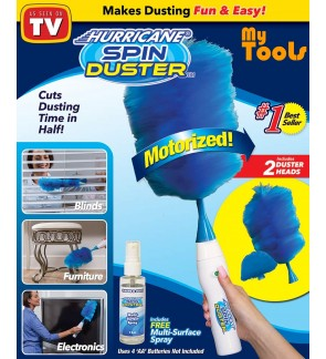 Hurricane Spin Duster Motorized Dust Wand Electric Duster Cleaning Tool