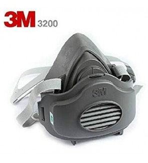 3M 3200 N95 PM2.5 Gas Protection Filter Respirator Dust Mask 3M 3200 + 3M 3700 Filter Holder + 3M 3744 Particulate Filter
