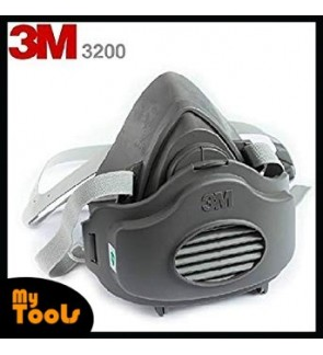 3M 3200 Half Facepiece Single Cartridge Respirator+3M 3700 Filter Holder+3M 3774