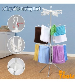 Mytools 3 Tier Foldable Clothes Hanging And Drying Rack