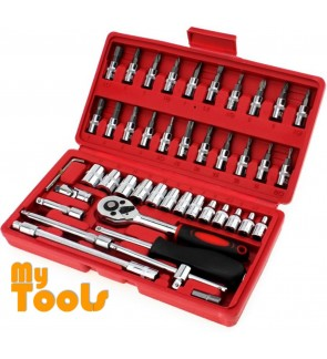 Mytools 46 pcs Wrench Spanner Socket Set Ratchet Set Repair Tool box set