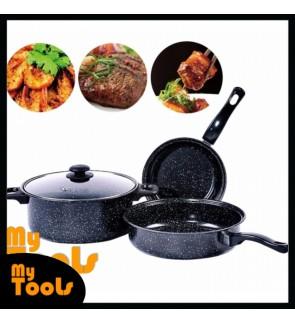 Mytools 998 Non Stick Cookware and Pot 4 Pcs Set- Black