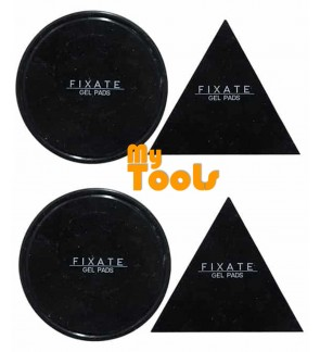 [2 Set] FIXATE GEL PAD Anti-slip Cells Pads Durable Washable 1pc triangle + 1pc circle