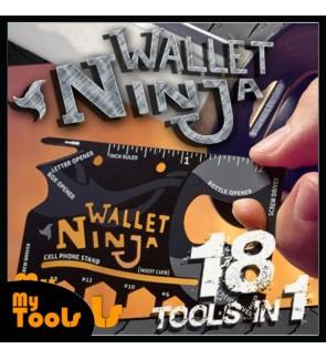 Mytools Wallet Ninja Multipurpose Tools As Seen On TV - 18 Tools In 1