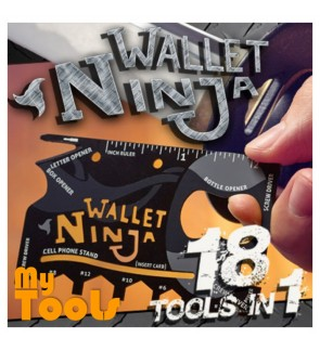 Mytools Multipurpose Tools As Seen On TV Wallet Ninja - 18 Tools In 1