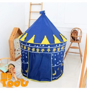 Mytools Portable Folding Kids Play Tent Castle Chubby House (Blue)