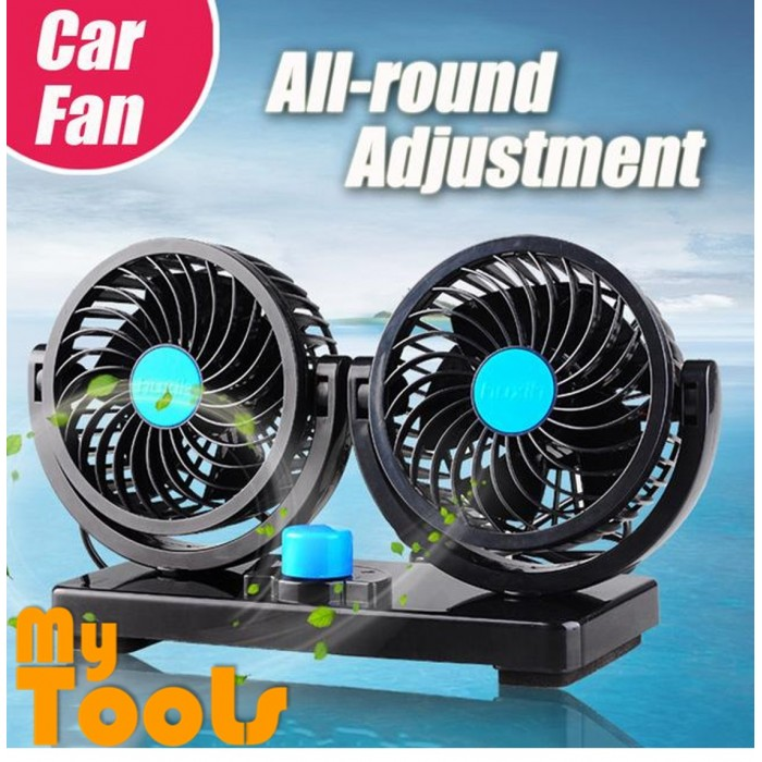 Mytools Car Cooling Air Double Fan Vehicle Silent 2 Speed Adjustable